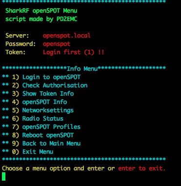 SharkRF openSPOT API Menu – einstein amsterdam